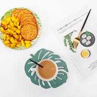 Wholesale woks resale online - Wooden Cup Pad Tortoise Dorsal Leaf Modeling Hollowing Out Table Mat Kitchen Prevent Slip Wok Mats rs2 L1