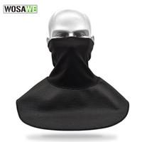 lenços de poliéster preto venda por atacado-Recém Poliéster Tubo Máscara Mais Quente Preto Esportes Ao Ar Livre Cachecol para Equitação Da Motocicleta De Esqui FMS19