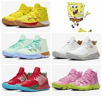 sapatos de lótus venda por atacado-2019 Nova SpongeBob SquarePants x Nike Kyrie 5 Lótus Patrick Lula Molusco Rosa Womens Mens Tênis De Basquete Irving 5 Esporte CJ6951-700 Designer Tênis Eur36-46