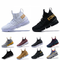 870fec3fa28 LBJ 15s 15 Basketball Shoes EQUALITY Black White Mens shoes 15s EP mens  trainers designer Sneakers Size 40-46