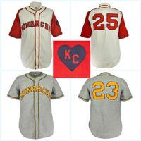 ordens de filme venda por atacado-Kansas City Monarchs 1942 Casa Jersey Filme Camisa de Beisebol 100% Costurado Nome Número Logos Para Homens Womens Juventude Mix Ordem Frete Grátis