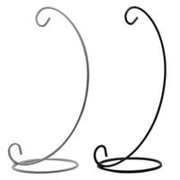 ingrosso supporto nero portacandele in metallo nero-New BlackWhite Table Ball Lantern Candle Hanging Stand Holder Portacandele in metallo per romantiche decorazioni per la cena di nozze