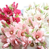 Wholesale magnolia flowers for sale - Group buy wedding decoration silk flowers cm orchid Magnolia artificial flowers for home decoration christmas birthday party supplies