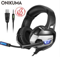 Wholesale blue color laptop for sale - Group buy ONIKUMA K5 mm Gaming Headphones Best casque Earphone Headset with Mic LED Light for Laptop Tablet PS4 New Xbox One