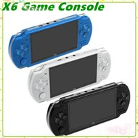 Wholesale portable pmp player resale online - PMP X6 Handheld Game Console Screen For PSP Game Store Classic Games TV Output Portable Video Game Player MQ16