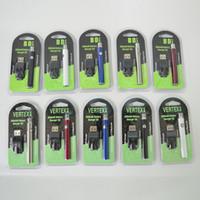 e sigara buharlaştırıcı şarj cihazı toptan satış-Vertex Vape Pil USB Şarj Kiti 350 mAh 510 Konu Ön Isıtma Buharlaştırıcı Pil E Sigaralar Atomizer Kartuşları için Vape Kalem VV Piller