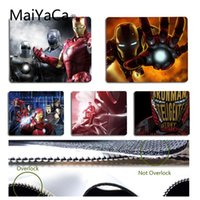Wholesale cool mouse pads resale online - MaiYaCa New Arrivals iron man superhero cool marvel Durable Rubber Mouse Mat Pad Size for x22cm x29cm Small Mousepad