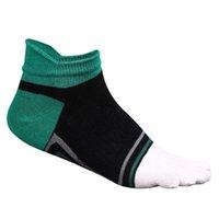 calcetines de dedo del pie masculino al por mayor-Cinco dedos calcetines de deporte masculino de algodón suave del calcetín masculino del dedo del pie del tobillo transpirable Ciclismo camping calcetines de running