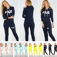 Wholesale knit yoga pants for sale - Group buy Brand Autumn Hooded Sportwear Two Piece Outfits Luxury Women Designer Tracksuit Letters Print Hoodies Sweatshirts with Leggings Pants C8805