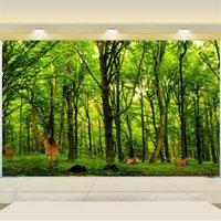 смотреть в прямом эфире оптовых-нестандартный размер 3d фото обои гостиная кровать росписи лося зеленый лес вид 3d фото диван тв фоне обои нетканые наклейки