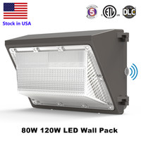 Wholesale traditional wall lamps resale online - DLC ETL Listed IP65 W W LED Wall Pack Light Lamp outdoor led wall mounted light lamp equivalent W traditional wallpack lamp