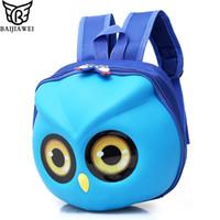 linda mochila de guarderia al por mayor-BAIJIAWEI Owl Cartoon Cute Mini Bag EVA Anti-lost Bolsas para niños Kindergarten Mochila Niños Mochilas escolares Cute Children Backpack