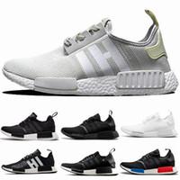 c31a665150110 2019 NMD Runner R1 Mesh Salmon Talc Cream Olive Triple Black Men Women  Running Shoes Sneakers NMD Runner Primeknit Shoes eur 36-45