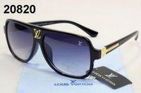 v marke sonnenbrille großhandel-Marke Steampunk L und V Sonnenbrille Frauen Sonnenbrille Männer Metallrahmen Doppel Brücke UV400 Linse Retro Vintage Sonnenbrille Goggle mit Box