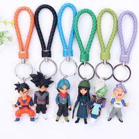 goku modeli toptan satış-6 Stil Dragon Ball Z Anahtarlık oyuncak PVC Kuririn Vegeta Goku SON Gohan Piccolo Freeza Beerus modeli Aksiyon Figürleri Anahtarlık çocuk oyuncakları