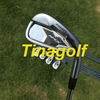golf pw al por mayor-2019 Nuevos hierros de golf Hierros APEX CF19 Juego de forjado (3 4 5 6 7 8 9 Pw) con eje de acero Dynamic Gold S300 8pcs palos de golf