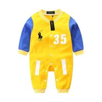 Wholesale high quality baby clothing resale online - High quality fall baby piece baby boys girl rompers jumpsuit baby romper long sleeve girls boutique clothing onesies clothes coco