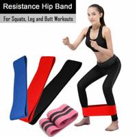 bandas de resistencia para el yoga al por mayor-Ejercicios elásticos Bandas de resistencia Loop Cross Fit Fitness Yoga Botín Ejercicio Banda