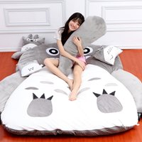 Wholesale totoro bed online - cartoon Totoro mattress bed tatami padded cute cartoon Totoro mattress folding floor mat sleeping pad removable and washable