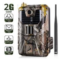 ev kameraları gizleme toptan satış-20 MP 1080P Vahşi Trail Kamera Fotoğraf Tuzaklar Gece Görüş 2G SMS MMS SMTP E-posta Hücresel Av Kameralar HC900M Gözetleme T191016