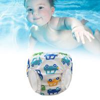 Wholesale cute diaper girls for sale - Group buy Boys Girls Cute Pool Cartoon Babies High Waist Children Pants Washable Printed Leak proof Swim Diapers Waterproof Newborn