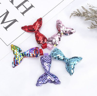 Wholesale children hairclips for sale - Group buy Mermaid sequin hair clips new design children sequined hairclips kids girls cute hair accessories styles offer choose