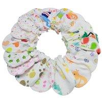 luvas de algodão do bebê venda por atacado-luvas recém-nascidos unissex Não Mittens raspadinhas infantil da criança recém-nascidos do bebê meninos e meninas luvas de algodão para Baby Care