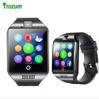 Wholesale watch phone free dhl shipping online – DHL Q18 smart watch mobile phone Bluetooth card smart wear beautiful arc fashion watch gift