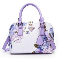 pflaumenhandtaschen großhandel-NEW Luxus Frauen Handtaschen Totes Modetasche Designer Taschen Handtaschen-Frauen Berühmte Marke Sac A Main Klein Shell 2019 Plum Blumen-Tasche # 4