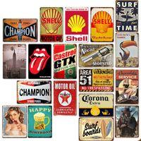 bar pubs venda por atacado-Sinal da lata 92 Diferente 20 * 30 cm Sinal Da Lata De Metal Bar Pub Decorativo Sinal De Metal Retro Placa De Metal Mural Cowboy Praia Beer Gun