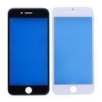 iphone 5s siyah cam toptan satış-10 adet iphone 5 s 6 6 s 6 s için soğuk basın artı onarım beyaz siyah dokunmatik harici çerçeve ile cam lens ekran