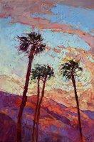 масляные холсты ладони оптовых-Artwork-palm-springs-Unframed Modern Canvas Wall Art для дома и офиса, картины маслом, картины животных, рама