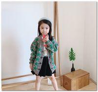 вязаный свитер детский моделей оптовых-Фирменные дети кардиган девушки зеленые звезды картины трикотажные случайные устаревать высокого качества мальчиков V-образным вырезом с длинным рукавом свитера кардиган J1907