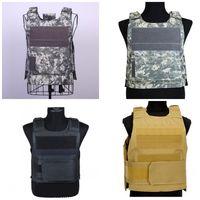 ingrosso giubbotti di caccia neri-Black Hawk Sport Tactical Vest Camo Khaki Color 600D Oxford Cloth Gilet protettivi per esterni Woodland Hunting Combat Clothes Lightweight35xy E