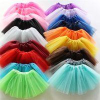 ingrosso boutique di rivestimento-Ragazze Tutu Skirt 2019 Estate Toddler Boutique Pieghe Mini Gonne Costume Party A-Line Balletto Abiti Per Bambini 19 Colori A42504