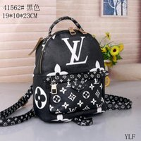 Wholesale mini footballs free shipping for sale - Group buy New Fashion Palm Springs Backpack Mini genuine leather backpack women printing leather Backpacks bags
