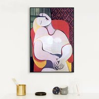 Wholesale art lover painting resale online - Lovers Kiss Abstract Oil Painting On Canvas Cuadros Nordic Wall Art Posters and Prints Wall Pictures for Living Room Home Decor