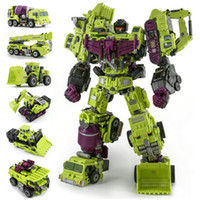 juguete g1 al por mayor-Jinbao Tamaño Grande Anime Devastator Transformation Toys Cool Ko Figura de Acción G1 Robot Car Trucks Hook Modelo Boy Kids Toy Regalos Y19062901