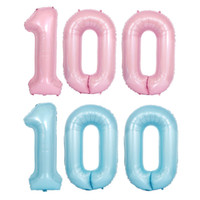 Wholesale aluminum balloon sizes resale online - 40inch Pearl Blue Pink Digital Aluminum Birthday Balloons Party Decoration Big Size Numbers Balloon QW9403