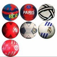 top oyunları toptan satış-Gerçek Madrid futbol boyutu 5 Makine dikiş beyaz Geometrik desen oyunu eğitim Bayern Münih öğrenci için psg kulübü Futbol Topu