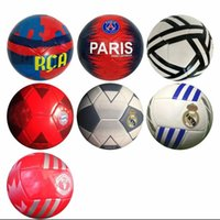 Wholesale real game for sale - Group buy Real Madrid football size Machine sewing white Geometric pattern game training Bayern Munich psg club Soccer Ball for student