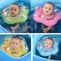 bebek boynu şamandıra halkası toptan satış-Moda Ayarlanabilir Güvenlik 1-12 Ay Bebek Yüzme Boyun Şamandıra Bebek Banyo Halka Moda Yeni Ayarlanabilir Boyun Şamandıra
