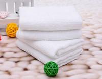 pequenas toalhas de mão quadradas venda por atacado-Branco Pequeno Quadrado Toalha 20x20 cm Presente Personalizado Brindes Toalha Barata Toalha de Mão Absorvente Hotel Lenço de Guardanapo de Algodão Pano de Cozinha