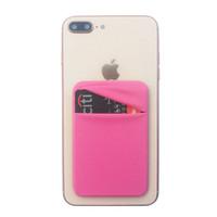 telefon cüzdanı çantası erkek toptan satış-Cep Telefonu Cüzdan Kılıf Cep Elastik Likra Yapıştırıcı Kredi KIMLIK Kartı Tutucu Sticker Cep Kadın Erkek için