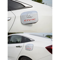 хромированная крышка топливного бака оптовых-ABS хром топливный бак крышка газовое масло крышка планки для Honda Civic 2016-2017