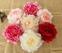 yapay şakayık çiçek başları toptan satış-Yeni Yapay Çiçekler Ipek Şakayık Çiçek Başkanları Parti Düğün Dekorasyon Malzemeleri Simülasyon Sahte Çiçek Kafa Ev Süslemeleri 12 cm