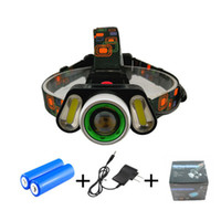 Wholesale head lamp battery powered for sale - Group buy 1000Lumens T6 COB LED Headlamp Zoom Headlight Head Lamp High Power Camping Torch Light with Battery Charger