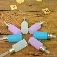 ingrosso sigaretta rosa e liquida-Grado alimentare silicio 8 ml squonk bottiglia bottiglioni liquidi per sigaretta e squonk box mod 3 colori trasparente rosa e blu in magazzino