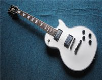 Wholesale best prices guitars resale online - Best Price HOT Top Quality White Custom Shop Guitar Ebony Frets Semi Hollow Electric Guitar With Hard case