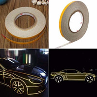Wholesale cycling stickers resale online - 2cm Roll Width Reflective Tape Stickers Car Styling Automobile VehicleTruck Motorcycle Cycling Warning Mark Strip DIY Decal